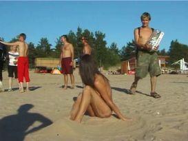מצלמת מציצן בחוף הים