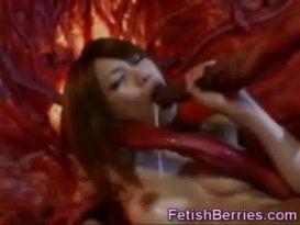 מפלצת דופקת צעירה יפנית!