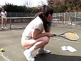 סקס חם על מגרש הטניס!